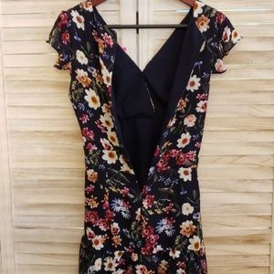 Parker Dresses - Parker Cosmic Daisy Silk Dress, Flutter Sleeves